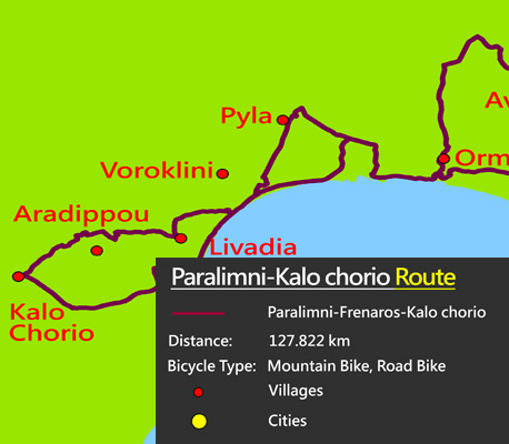 Cyprus famagusta cycling kalo chorio route