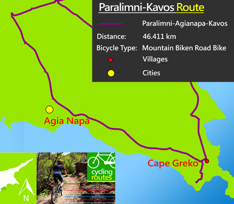 Cyprus famagusta cycling paralimni-kavos route