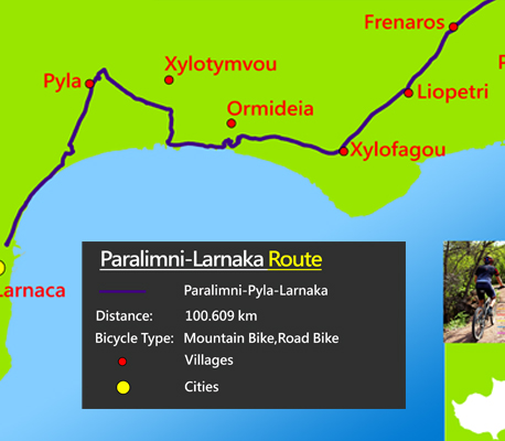 Cyprus famagusta cycling paralimni-larnaca route