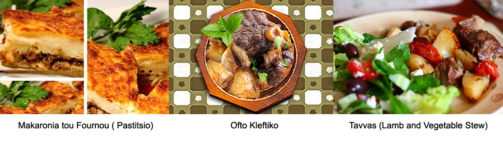 Cyprus cuisine local dishes ofto kleftiko souvla
